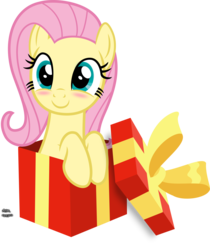 Size: 1209x1440 | Tagged: artist:anime-equestria, blushing, bow, box, cute, daaaaaaaaaaaw, female, fluttershy, hnnng, mare, pegasus, pony, pony in a box, present, safe, shyabetes, simple background, smiling, solo, transparent background, vector, weapons-grade cute