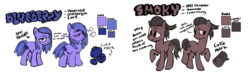 Size: 3035x912 | Tagged: artist:bugbites, earth pony, oc, oc:blueberry, reference sheet, safe