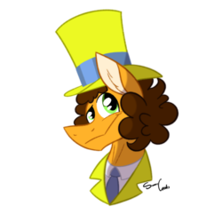 Size: 2048x2048 | Tagged: artist:summer-cascades, cheese sandwich, clothes, earth pony, hat, pony, safe, solo, spoiler:s09e14, suit, the last laugh, top hat