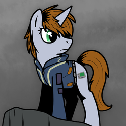 Size: 600x600 | Tagged: artist:kaylamod, fallout equestria, female, mare, oc, oc:littlepip, oc only, safe, solo, unicorn