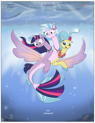 Size: 2550x3300 | Tagged: alicorn, artist:loreto-arts, conjoined, fusion, multiple heads, my little pony: the movie, pony, princess skystar, safe, seapony (g4), silverstream, three heads, twilight sparkle, twilight sparkle (alicorn), we have become one