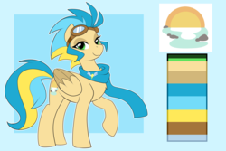 Size: 3000x2000 | Tagged: artist:xwhitedreamsx, clothes, female, goggles, mare, oc, pegasus, pony, reference sheet, safe, scarf, solo