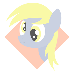 Size: 4000x4000 | Tagged: artist:nodepoint, derpibooru exclusive, derpy hooves, female, lineless, mare, pegasus, safe, simple background, solo, vector, wide eyes