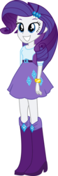 Size: 856x2592 | Tagged: artist:marcorois, equestria girls, rarity, safe, solo, vector