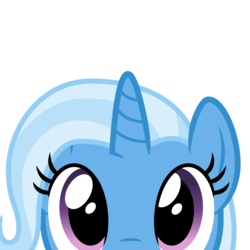 Size: 2400x2400 | Tagged: artist:cheezedoodle96, close-up, cute, diatrixes, female, looking at you, mare, part of a set, peekaboo, peeking, pony, safe, shy, simple background, solo, svg, .svg available, transparent background, trixie, unicorn, vector, wide eyes