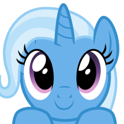 Size: 2400x2400 | Tagged: safe, artist:cheezedoodle96, trixie, pony, unicorn, .svg available, bust, close-up, cute, diatrixes, female, hooves on the table, looking at you, mare, part of a set, peekaboo, peeking, portrait, simple background, solo, svg, transparent background, vector, wide eyes