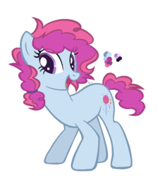 Size: 846x944 | Tagged: artist:fluttershylover17, base used, earth pony, female, mare, oc, oc:pink surprise, offspring, parent:party favor, parent:pinkie pie, parents:partypie, pony, safe, simple background, solo, transparent background