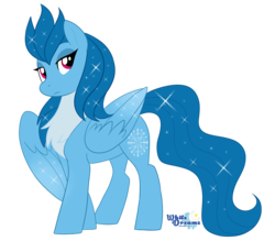 Size: 2147x1877 | Tagged: artist:xwhitedreamsx, female, lidded eyes, mare, oc, oc:arctic flight, oc only, pegasus, pony, safe, simple background, solo, transparent background