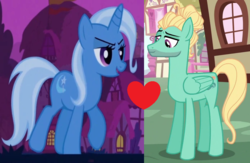 Size: 1024x666 | Tagged: artist:themexicanpunisher, crack shipping, female, male, safe, shipping, shipping domino, straight, trixbreeze, trixie, zephyr breeze