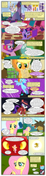 Size: 612x2312 | Tagged: a canterlot wedding, alicorn, applejack, artist:newbiespud, book, canterlot, changeling, clothes, cloud, comic, comic:friendship is dragons, detective rarity, dialogue, dragon, dragonshy, earth pony, edit, edited screencap, eyes closed, female, fight, fluttershy, flying, glowing horn, golden oaks library, hat, horn, it's about time, magic, mane six, map, mare, mouth hold, mystical orb of fate's destiny, pegasus, pinkie pie, pony, princess celestia, rainbow dash, rarity, rarity investigates, safe, screencap, screencap comic, secret of my excess, smiling, somepony to watch over me, telekinesis, turban, twilight sparkle, unicorn, unicorn twilight