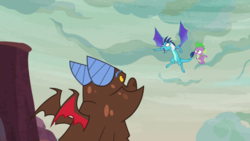 Size: 1920x1080 | Tagged: clump, princess ember, safe, screencap, spike, spoiler:s09e09, sweet and smoky