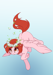Size: 2480x3508 | Tagged: artist:arctic-fox, female, floral head wreath, flower, mare, oc, oc only, oc:weathervane, pegasus, pony, safe