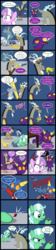 Size: 2237x10013 | Tagged: safe, artist:magerblutooth, diamond tiara, discord, filthy rich, silver spoon, oc, oc:aunt spoiled, oc:dazzle, oc:handy dandy, oc:il, oc:peal, cat, draconequus, earth pony, imp, pony, comic:diamond and dazzle, bubble, comic, heart's reproach