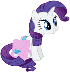 Size: 3200x3322 | Tagged: .ai available, artist:ready2fail, cute, female, mare, pony, raribetes, rarity, saddle bag, safe, simple background, sitting, smiling, solo, transparent background, unicorn, vector
