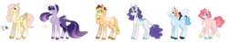 Size: 2053x389 | Tagged: alicorn, alternate hairstyle, applejack, artist:flowercatbutters, bite mark, chest fluff, coat markings, colored hooves, colored wings, colored wingtips, curved horn, earth pony, ethereal mane, eye clipping through hair, female, fluttershy, headcanon in the description, horn, leonine tail, line-up, looking at you, mane six, mare, missing cutie mark, multicolored wings, pegasus, piercing, pinkie pie, pony, rainbow dash, rainbow wings, rarity, safe, scales, scar, simple background, smiling, snake bites, starry mane, tail feathers, transparent background, twilight sparkle, twilight sparkle (alicorn), unicorn, wings