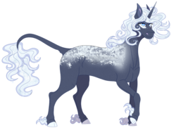 Size: 1198x874 | Tagged: artist:bijutsuyoukai, colored fetlocks, colored hooves, crack ship offspring, female, leonine tail, mare, oc, oc only, offspring, parent:double diamond, parent:princess luna, pony, safe, simple background, solo, transparent background, unicorn, unshorn fetlocks