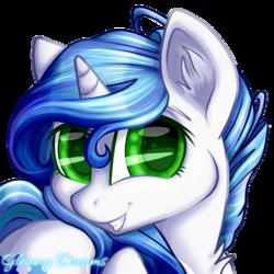 Size: 894x894 | Tagged: safe, artist:gleamydreams, oc, oc:gleamy, pony, unicorn, curly hair, digital art, ear fluff, female, green eyes, looking at you, mare, smiling, solo