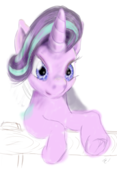 Size: 1884x2749 | Tagged: artist:ciaran, derpibooru exclusive, impressionism, modern art, safe, simple background, sketch, starlight glimmer, white background