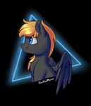Size: 600x700 | Tagged: safe, artist:soulfulmirror, oc, oc:romance heart, pegasus, pony, bust, male, portrait, solo, stallion