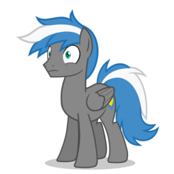 Size: 894x894 | Tagged: safe, artist:oblivionfall, oc, oc only, oc:cloud zapper, pegasus, pony, happy, male, smiley face, smiling, solo, stallion