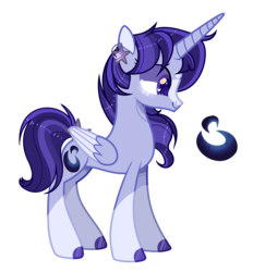 Size: 4298x4626 | Tagged: absurd res, alicorn, artist:xxcutecookieswirlsxx, base used, oc, oc:artemis, offspring, parent:king sombra, parent:princess luna, parents:lumbra, pony, safe, solo