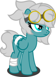Size: 1280x1748 | Tagged: artist:fletcherthehuntress, female, goggles, mare, oc, oc:cumulonimbus, pegasus, pony, safe, simple background, solo, transparent background, vector