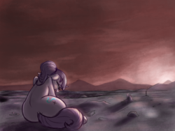 Size: 2000x1500 | Tagged: alone, alternate timeline, artist:t72b, ashlands timeline, bad end, barren, crying, derpibooru exclusive, implied genocide, pony, post-apocalyptic, s5 starlight, sad, sadlight glimmer, safe, starlight glimmer, sunset, the cutie re-mark, the end is neigh, unicorn, wasteland, what have i done, what have i done?!
