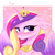 Size: 3000x3000 | Tagged: safe, artist:pesty_skillengton, princess cadance, alicorn, pony, blushing, chest fluff, colored wings, crown, cute, cutedance, ear fluff, female, floppy ears, jewelry, looking at you, mare, multicolored wings, regalia, smiling, solo, wings