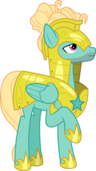 Size: 6400x11319 | Tagged: safe, artist:parclytaxel, zephyr breeze, pegasus, pony, sparkle's seven, .svg available, absurd resolution, armor, guard armor, male, raised hoof, royal guard armor, royal guard zephyr breeze, simple background, solo, stallion, transparent background, vector