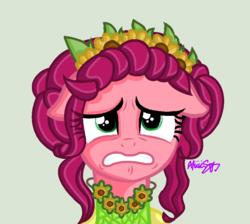 Size: 909x816 | Tagged: safe, artist:xitzakiiix, gloriosa daisy, pony, equestria girls ponified, glorio-sad daisy, ponified, sad
