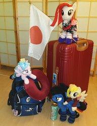 Size: 522x680 | Tagged: safe, cozy glow, oc, oc:poniko, flag, irl, japan, photo, plushie