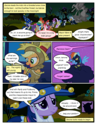 Size: 612x792 | Tagged: alula, applejack, artist:newbiespud, bandana, cloak, clothes, cloud, clown, colt, comic, comic:friendship is dragons, costume, dialogue, dinky hooves, dragon, dragon costume, earth pony, edited screencap, everfree forest, fake beard, female, filly, freckles, goggles, hat, looking down, luna eclipsed, male, mare, mayor mare, neck rings, nightmare moon, noi, on a cloud, pegasus, piña colada, pipsqueak, pony, quadrupedal, rainbow dash, rearing, safe, scarecrow, scootaloo, screencap, screencap comic, shadowbolt dash, shadowbolts, shadowbolts costume, smiling, spike, star swirl the bearded costume, statue, sweetie belle, twilight sparkle, unicorn, unicorn twilight, wizard hat, worried, zebra, zecora