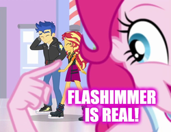 Size: 644x498 | Tagged: safe, edit, flash sentry, pinkie pie, sunset shimmer, do it for the ponygram!, equestria girls, equestria girls series, spoiler:eqg series (season 2), converse, female, flashimmer, male, pinkie the shipper, shipping, shoes, straight