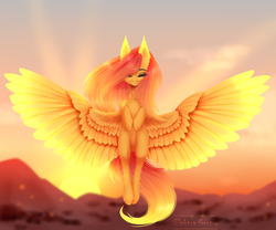 Size: 2400x2000   Tagged: safe, artist:elektra-gertly, fluttershy, pegasus, pony, eyes closed, female, flying, mare, solo, spread wings, wings