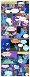 Size: 612x1556 | Tagged: alicorn, alula, animal costume, annoyed, applejack, artist:newbiespud, background pony, bag, bandana, candy, carrot top, chicken pie, chicken suit, cloak, clothes, cloud kicker, colt, comic, comic:friendship is dragons, costume, dialogue, dragon, dragon costume, earth pony, edit, edited screencap, ethereal mane, eyepatch, eyes closed, fake beard, female, filly, food, golden harvest, grin, hat, helmet, hoof shoes, horned helmet, looking up, luna eclipsed, male, mare, mouth hold, noi, pegasus, piña colada, pinkie pie, pipsqueak, pony, princess luna, rainbow dash, raised hoof, safe, salute, scarecrow, screencap, screencap comic, smiling, spike, starry mane, star swirl the bearded costume, sunshower raindrops, sword, twilight sparkle, unicorn, unicorn twilight, viking helmet, weapon, wizard hat