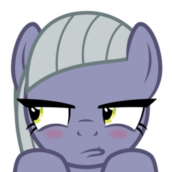 Size: 2400x2400 | Tagged: artist:cheezedoodle96, blushing, close-up, earth pony, embarrassed, female, hooves on the table, limestone pie, limetsun pie, looking away, mare, narrowed eyes, pony, pouting, safe, simple background, solo, svg, .svg available, transparent background, tsundere, vector