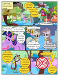Size: 612x792 | Tagged: applejack, artist:newbiespud, big crown thingy, bullseye, comic, comic:friendship is dragons, confused, dialogue, discord, discorded, draconequus, earth pony, edited screencap, element of magic, elements of harmony, female, flutterbitch, fluttershy, flying, frown, greedity, hat, jewelry, liarjack, male, mane six, mare, pegasus, pinkie pie, pony, rainbow dash, rarity, regalia, rock, safe, screencap, screencap comic, sunglasses, suspicious, the return of harmony, tom, twilight sparkle, unamused, unicorn, unicorn twilight