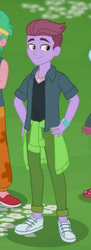 Size: 182x501 | Tagged: safe, screencap, duke suave, lemon zack, equestria girls, equestria girls series, let it rain, spoiler:eqg series (season 2), background human, clothes, cropped, male, offscreen character, offscreen human, pants, shoes