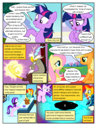 Size: 612x792 | Tagged: angry, applejack, artist:newbiespud, black hole, celestial advice, cloak, clothes, comic, comic:friendship is dragons, dialogue, discord, draconequus, earth pony, edited screencap, female, flower, fluttershy, freckles, glowing hands, glowing horn, goggles, hat, horn, log, magic, male, mare, messy mane, open mouth, pegasus, picnic blanket, pony, raised hoof, safe, screencap, screencap comic, sitting, socks (coat marking), stallion, starlight glimmer, sunburst, surprised, telekinesis, twilight sparkle, unicorn, unicorn twilight