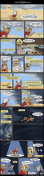 Size: 800x3194 | Tagged: alcohol, artist:digoraccoon, artist:winged cat, backpack, bar, beer, chest fluff, clothes, cloud, collaboration, comic, comic:friendship is dragons, cup, desert, dialogue, drunk, exclamation point, eye, eyes, glasses, looking up, male, map, oc, oc:doc wagon, oc:gin gear, oc only, onomatopoeia, pony, raised hoof, safe, sleeping, stallion, underhoof