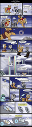 Size: 800x3200 | Tagged: artist:digoraccoon, artist:winged cat, backpack, clothes, cloud, collaboration, comic, comic:friendship is dragons, dialogue, earth pony, flying car, glasses, looking down, male, oc, oc:doc wagon, oc:gin gear, oc only, on a cloud, pegasus, pony, robotic arm, safe, stallion, unicorn