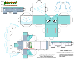 Size: 2979x2354 | Tagged: artist:grapefruitface1, arts and crafts, clothes, craft, cubeecraft, derpibooru exclusive, fleetfoot, jumpsuit, papercraft, pony, safe, template