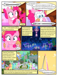 Size: 612x792 | Tagged: safe, artist:newbiespud, edit, edited screencap, screencap, classical hippogriff, hippogriff, pony, sea pony, comic:friendship is dragons, my little pony: the movie, surf and/or turf, background hippogriff, balloon, cheek squish, comic, dialogue, eyes closed, fledgeling, happy, jewelry, jumping, male, motion blur, necklace, open beak, rearing, screencap comic, seaquestria, smiling, squishy cheeks