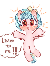 Size: 418x552 | Tagged: artist:cpid, cozybetes, cozy glow, cropped, cute, female, filly, safe, solo, starry eyes, wingding eyes