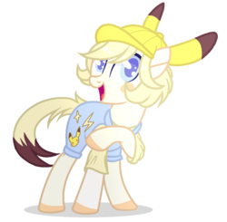Size: 985x965 | Tagged: artist:sweetie-drawz, earth pony, female, hat, mare, oc, overalls, pony, safe, simple background, solo, transparent background