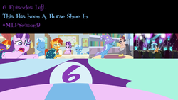 Size: 1152x648 | Tagged: a horse shoe-in, countdown, dj pon-3, earth pony, edit, grampa gruff, griffon, illustrator, mlp s9 countdown, octavia melody, photoshop, phyllis no!, pony, road, safe, spoiler:s09e20, starlight glimmer, sunburst, sunset, trixie, unicorn, vinyl scratch