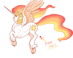 Size: 1280x1024 | Tagged: safe, artist:snowberry, princess celestia, alicorn, pony, alternate design, colored sketch, fluffy, flying, helmet, king solaris, male, male alicorn, prince solaris, rule 63, simple background, stallion, unshorn fetlocks, white background