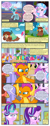 Size: 612x1553 | Tagged: safe, artist:newbiespud, edit, edited screencap, screencap, auburn vision, berry blend, berry bliss, bifröst, citrine spark, fire quacker, gallus, huckleberry, loganberry, november rain, ocellus, peppermint goldylinks, sandbar, silverstream, smolder, starlight glimmer, strawberry scoop, summer meadow, tune-up, yona, changedling, changeling, classical hippogriff, dragon, earth pony, griffon, hippogriff, pegasus, pony, unicorn, yak, comic:friendship is dragons, :i, background pony, background pony audience, cloud, comic, crossed arms, dialogue, falling, female, filly, flying, friendship student, glowing horn, horn, i mean i see, male, mare, on a cloud, raised hoof, screencap comic, stallion, student six, suspicious, unamused, wide eyes, worried
