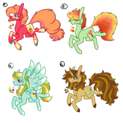 Size: 3000x3000 | Tagged: artist:frairlight, colored hooves, color palette, curved horn, cutie mark, earth pony, fluffy tail, horn, oc, oc only, offspring, parent:big macintosh, parent:braeburn, parent:doctor whooves, parent:pinkie pie, parent:rainbow dash, parents:braedash, parents:doctordash, parents:pinkiemac, parents:sunhooves, parent:sunset shimmer, pegasus, pony, safe, simple background, transparent background, unicorn, unnamed oc, unshorn fetlocks