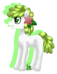 Size: 1426x1852 | Tagged: artist:spokenmind93, crossover, earth pony, female, flower, flower in hair, land forme, mare, pokémon, ponified, pony, safe, shaymin, simple background, solo, transparent background